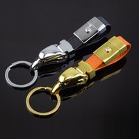 leather key ring - Leather key ring eagle head metal key ring car key chain