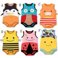 babi boy - Summer Brand Original Animals Sleeveless Cotton Baby Bodysuits New Born Babi Girl Clothes bebek giyim Baby Boy Clothing