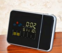 Unisex 12-14 Years Black Projection Clock Weather Station Projection Alarm Clock