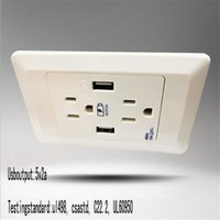 american electrical supply - 120 mm white American standard USB wall socket plug with switch home electrical equipment supply