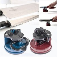 Wholesale tungsten steel Knife Sharpener with suction pad Scissors Grinder Secure Suction Chef Pad Kitchen Sharpening Tool