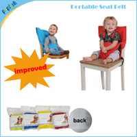 Wholesale portable baby cloth seat carriable high chair feeding comfortable safely months up seat belt cover