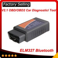 Wholesale 2015 ELM ELM327 bluetooth OBD OBD2 OBDII Protocols Auto Car Diagnostic Interface Scanner tool
