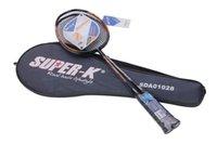Wholesale MESUCA Sports Super k Aluminium Carbon Two Colors Badminton Racket Set Pair SDA01028 for Adult Advanced Football