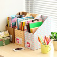 Wholesale Creative Desktop Storage sorting box office kraft paper office desktop file storage box finishing box Books Magazines