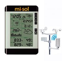 weather station - Professional Wireless Weather Station with PC connection weather forecast wind speed rain guage