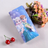 Cheap Children birthday party gifts frozen fever girl's purse elsa anna printed child PU purses kids coin bags card bags christmas gift