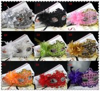 Wholesale 2014 New Exquisite Lace Rhinestone Leather Mask Masquerade Lily Flower Princess Mask