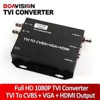 Bnc vidéo vga Prix-Signal HD 2016 NOUVEAU TVI caméra vers HDMI / VGA / HDMI CVBS Converter soutien + VGA + CVBS (BNC) Sortie 1080p 25 / 30Hz HD Video Converter Noir