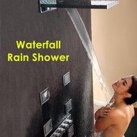 Wholesale Luxury Classic Solid Brass Concealed Bathroom Shower faucet waterfall rain shower