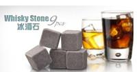 Wholesale Whisky Stones Soapstone Beverage Chillers Vodka Wine delicate box velvet bag whiskey rock stone