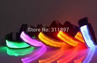 Wholesale LED Flashing Safety Arm Band Wrist Strap Armband for Outdoor Sports Night Running Party by ems dhl