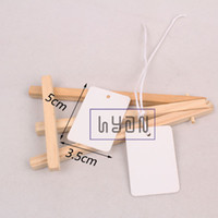 Wholesale Blank White Cardboard Cloth Hangtags with white Paper Rope DIY Cardboard Gift Hang tags Price Labels colors can be mixed
