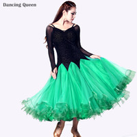 ballroom dresses - 2015 Ballroom Dancing Dress Green Rose Blue Dress Ballroom Standard Dance Stage Costumes For Singers Jazz Tango Waltz Dresses