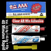 Wholesale 85g AB MIX Adhesive Glue Pair stone clear gel multi purpose for jewelry crystals rhinestones DIY tools accessories parts
