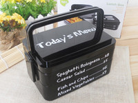 Wholesale All in One Stackable Lunch Boxes can be microwave heat Rectangle portable lattice plastic lunch crisper storage box