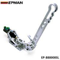 hydraulic - EPMAN New Silver Hydraulic Drift E Brake Racing Handbrake Lever Gear Locking Sliver Universal JDM EP B88008SL
