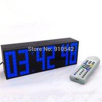 achat en gros de horloge numérique multifonctionnel-Multifonctionnel numérique grand LED Snooze Compte à rebours Minuterie à télécommande Horloges murales de bureau avec grand nombre