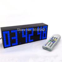 venda por atacado led digital wall clock-Multifuncional Digital Big LED Snooze Timer de contagem regressiva do relógio Controle Remoto parede de Desktop Despertadores com grandes Número