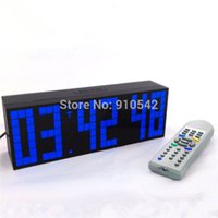 alarm clock big numbers - Multifunctional Digital Big LED Snooze Countdown Timer Remote Control clock Wall Desktop Alarm Clocks With Big Number