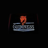 beer records - World Records Official GUINNES REAL GLASS TUBE NEON BEER BAR WALL SIGN GAMEROOM CLUB GARAGE