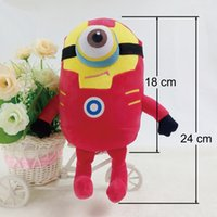 Wholesale The Minions Despicable Me Plush Toy Stuart Kevin Bob Super Heroes The Avengers Stuffed Dolls Captain America Iron Man Batman Gifts
