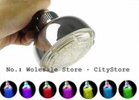 Wholesale Adjustable Automatic Colors Change LED Shower Bathroom Head Shower LED Light Y1055D Fshow