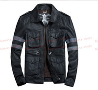 Wholesale Hot Sale Brands Resident Evil Leon Kennedy Game pu Leather Jacket coat cavalier size M L XL XL XL XL XL