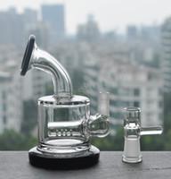 achat en gros de bongs en verre bon marché livraison gratuite-2017 Petite Rig petite bon marché à deux fonctions épaisses en verre lourd gros Inline Percolator Water Pipe Oil Rig Bong livraison gratuite