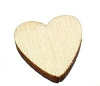 Wholesale X6 mm Wooden heart shaped production Scrapbooking