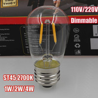 led bulb - Standard GLS Edison K W W W W E27 S45 LED Bulb Light Filament Vintage Lamp With Clear Glass
