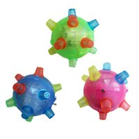 Wholesale New Baby toys Kids Powered Ball Game Jumping Joggle Sound Sensitive Vibrating Kids Flashing Toy Gifts
