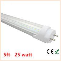 Wholesale 5ft T8 Led Tube Light High Super Bright mm W Warm Cold White Led Fluorescent Bulbs AC85 V