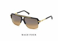 Wholesale HOT Dita sunglasses new model DITA mach four Semi metal frame and K gold shinyplate collocation titanium summer style