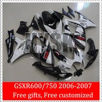 Wholesale Corona Fairing Kits Of Suzuki Motorbike Parts GSXR600 GSXR750 K6 GSXR GSXR Racing Body Work Black White ABS