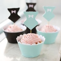 Wholesale 120pcs Swimwear cupcake wrappers cake cups toppers baby birthday party kids decorations Christmas supplies