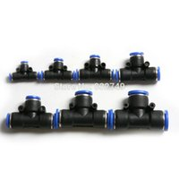 Wholesale 5 mm Quick Pneumatic Fittings Tee Joint Air Pneumatic Tee Shaped Ways Fittings Couplings order lt no track
