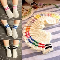 anckle socks - 2015 New Baby Striped Cotton socks Japaneses Style Socks Anckle length Unisex Toddler baby Socks Children Sports socks School Uniform Socks