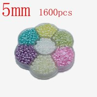 Wholesale mm color Multicolor DIY Half Round Pearls Flat Back Scrapbook Craft