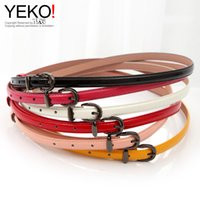 art ring fine - YEKO sweet elegant fine art candy color wild fashion patent leather belt Ms Buckle Ring