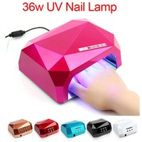 Wholesale 2016 Fashion CCFL W LED Light Diamond Shaped Best Curing Nail Dryer Nail Art Lamp Care Machine for UV Gel Nail Polish