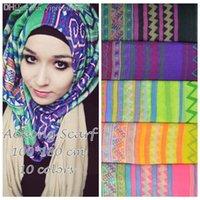 Wholesale piece Women Viscose Voile Shawls Hmong Scarf Tribal Aztec Scarves Muslim Hijab Bufandas cm