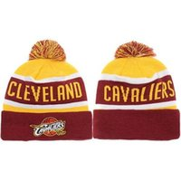 cavalier - Cavaliers Beanies Newest Basketball Beanie Hats High Quality Pompom Beanies Cheap Knitted Hats Fashion Winter Sports Caps Allow Mix Order