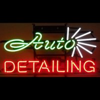 auto detailing logos - HANDICRAFT AUTO DETAILING LOGO NEON LIGHT BEER BAR PUB REAL GLASS TUBE SIGN x14 quot