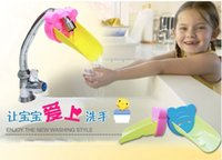 Wholesale PP silicon Cartoon Children Guiding Gutter Faucet Extender For Helps Kids Hand Washing Faucet Accessories Bathroom Sink Gift