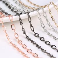 Wholesale 4 Colors Super Slender Alloy O Chains Fit DIY Floating Locket Sweater Pendant Necklace cm Long