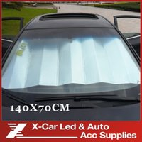 Wholesale Foldable Car Auto Silvery aluminum foil Front Rear Windshield Sunshade Sun Shade cm