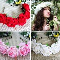 hair sticks - 2015 Summer New Hot Sale Candy Colors Roses Headbands Kids Fashion Princess Hair Sticks Children Best Sale Rose hair sticks