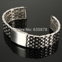 Wholesale mm mm mm Stainless Steel Watch Strap Bracelet Band Double Flip Lock Button NEW order lt no track