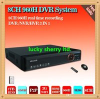 Wholesale CIA channel full H D1 Real time HDMI P Hybrid dvr NVR Onvif for hikvision ip camera P2P CCTV DVR Recorder ch TB HDD